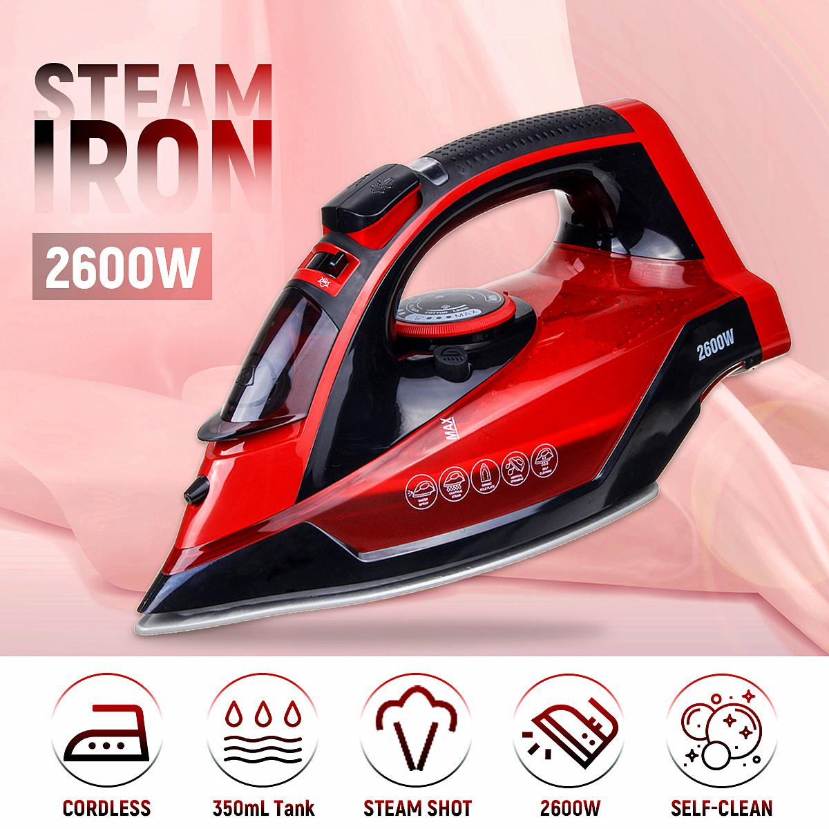 2400W Steam Iron 5 Speed Gear Shift Knob Wireless Charging Household Portable Clothes Ironing Steamer Ceramic