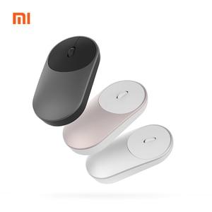 Image 1 - Original Mini Xiaomi Wireless Mouse 2.4GHZ Bluetooth 4.0 Portable Alloy ABS Game Mouse 10M Sensing Range For Windows7 macOS