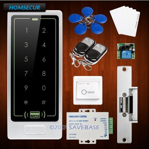 HOMSECUR Waterproof Wiegand 26/34 ID Access Control System + Electric Strike Lock wiegand 26 input
