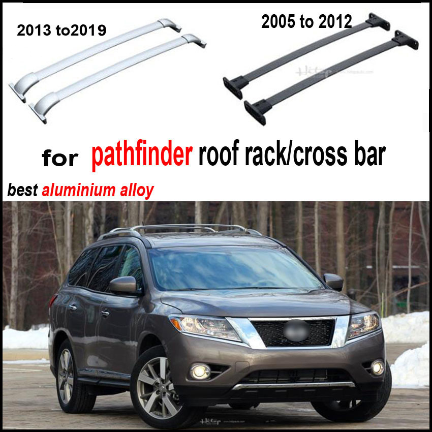 roof rack roof rail cross bar beam for Nissan Pathfinder 2005 2019 thicken aluminum alloy high