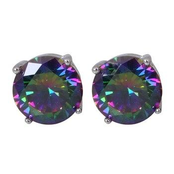 Rzadkie styl wielu cyrkon okrągły styl srebrny stadniny kolczyki dla kobiet prezent na rocznicę moda biżuteria JE762A