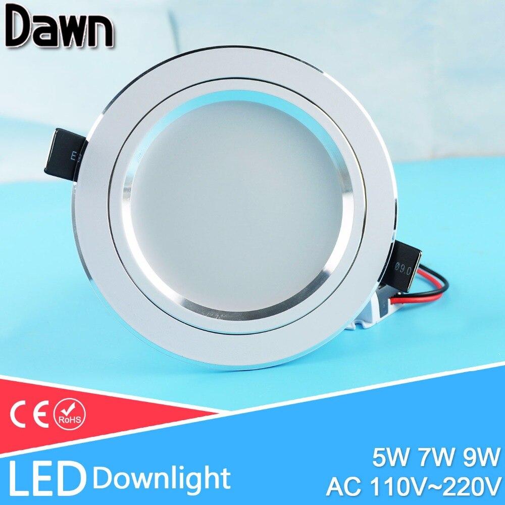 Jinko Led 5w Integrated Ceiling Lamp Bedroom Kitchen: Soft Light 110~220v Thin LED Downlight 5w 7w 9w Showcase