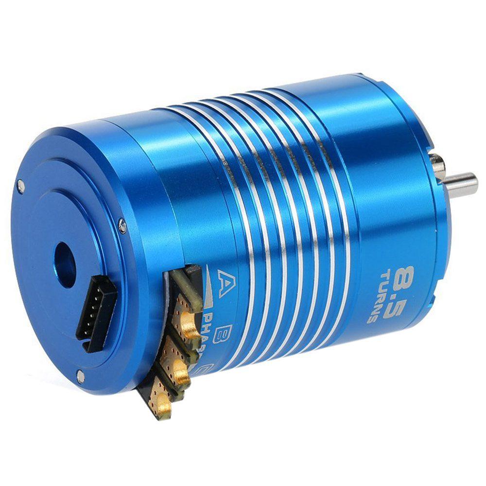 HOT SALE High Efficiency 540 Sensored Brushless Motor for 1/10 RC Car Blue, 8.5T 4100KV