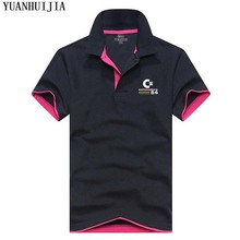 YUANHUIJIA 2017 Brand Men Fashion Polo Commodore64 Printing Man Tommys Short Sleeved Polos Shirt For Boys Polo Homme Plus Size