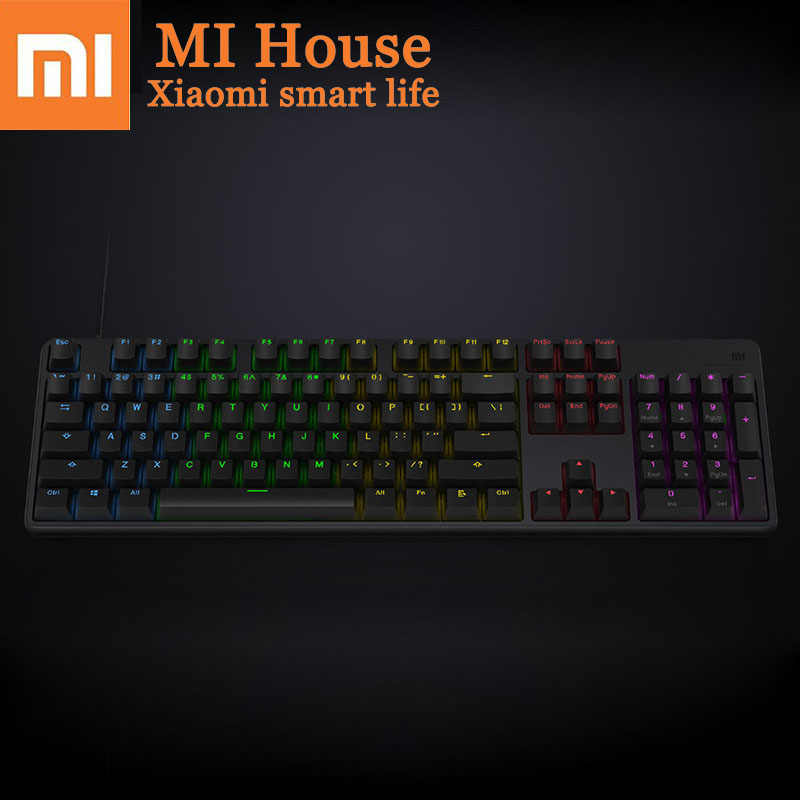 Xiaomi Mechanical Gaming Keyboard RGB Backlit Fingerboard Supports Up To 33 Keys While Responding To Professional Competition