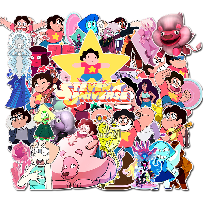 50PCS Pack 2019 New Lion Steven Universe Stickers Set Toy Sticker For Luggage Skateboard Motorcycle Laptop PVC Sticker(China)