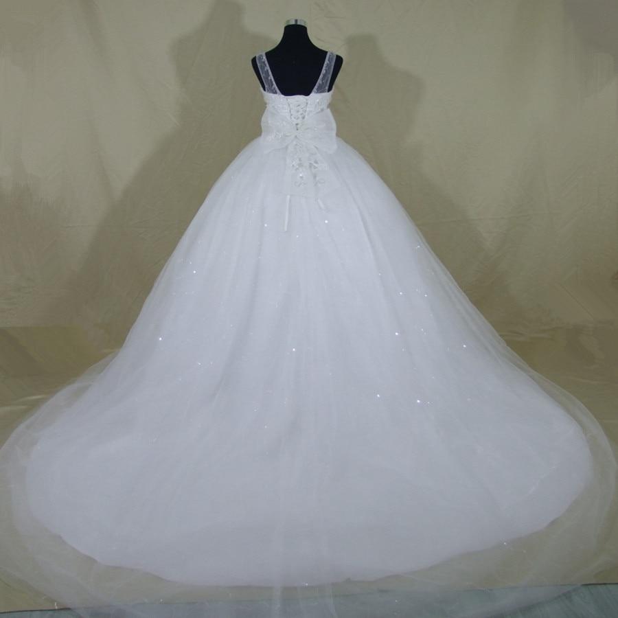 QQ Lover 2017 New Romantic Crystals Beaded Bow Wedding dress Bridal ...