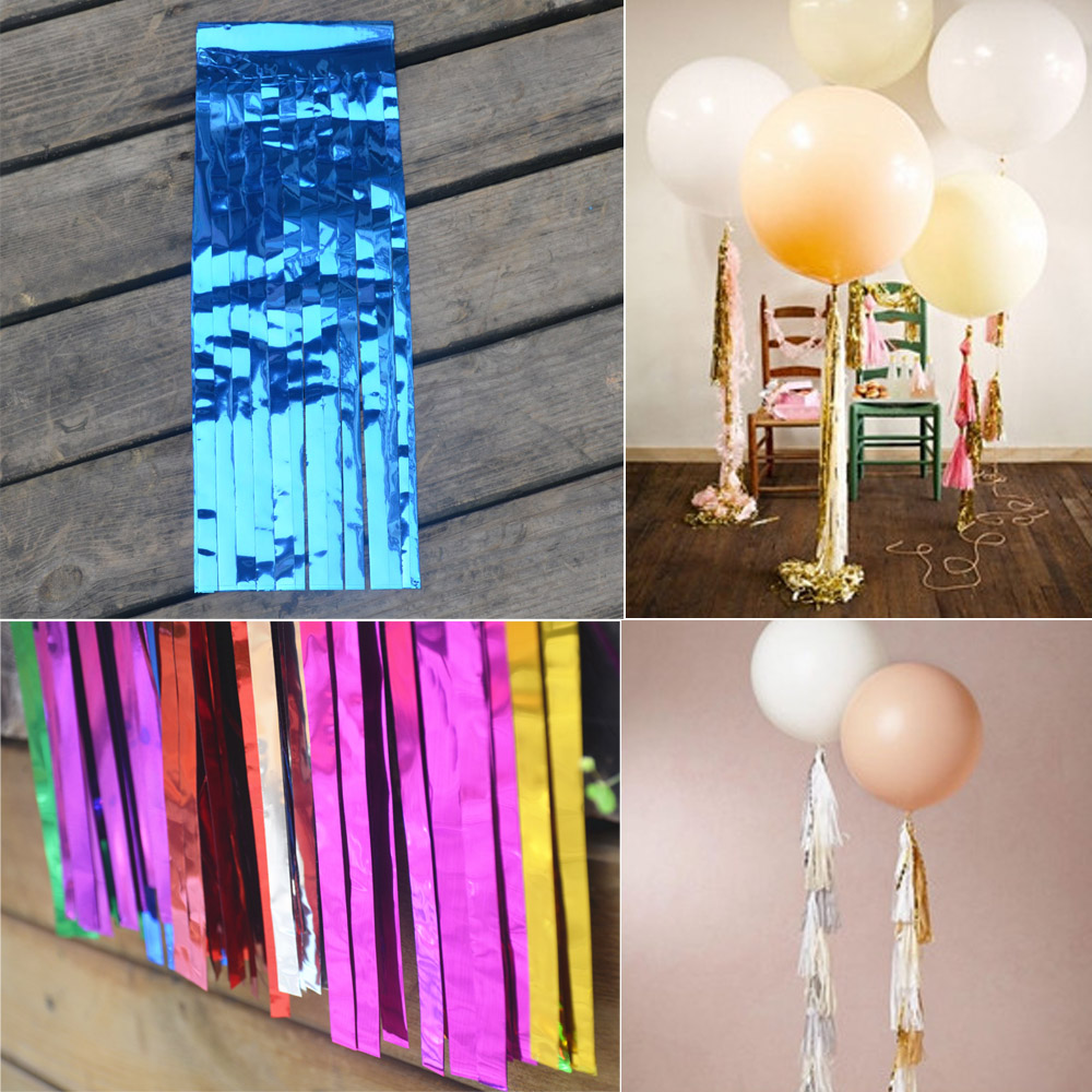 Rainbow Party Banner Kit Rainbow tissue tassel garland DIY Outdoor party decorations...