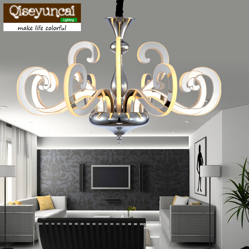 Qiseyuncai Simple creative art living room chandelier after the modern European personality arm crystal restaurant chandeliers modern simple crystal chandelier light creative personality crysta chandelier lamps chandeliers lighting living room bedroom
