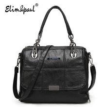 ELIM&PAUL Women Leather Handbags Women Messenger Bags Ladies Bolsa Feminina Women Bag Top-Handle Bag Handbags Crossbody Bag 7122