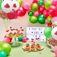 1 ensemble de jolis Fruits thème pastèque gâteau Topper Led/bannière/ballons été piscine fête mariage anniversaire décoration fournitures