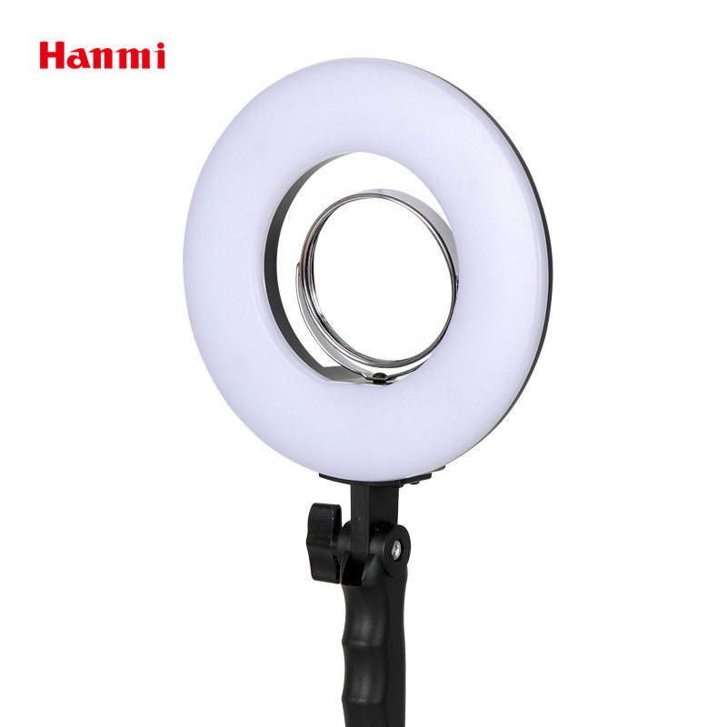 Hanmi New Lamp 8 inch Ring Light For Photography 5500K Lamp Video Photo Studio Light Stand Tripod Selfie Ring Light Photo Studio 1pc 150w 220v 5500k e27 photo studio bulb video light photography daylight lamp for digital camera photography