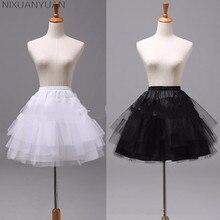 NIXUANYUAN белая или черная короткая Нижняя юбка Женская Нижняя юбка для свадебного платья jupon cerceau mariage