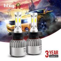1x Pair 72W 16000LM 6000K H11Hi Lo Single Beam COB Chips LED Headlight Kits SUV Fog