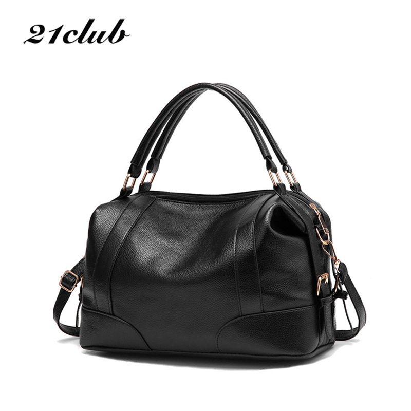21club Brand Women Solid Medium Totes Casual Zipper Shopping Handbag Hotsale Lady Party Purse Crossbody Shoulder Messenger Bags