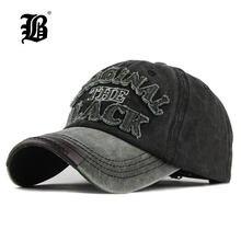 [FLB] Hot Retro Washed Baseball Cap Fitted Cap Snapback Hat For Men Bone Women Gorras Casual Casquette Letter Black Cap F122