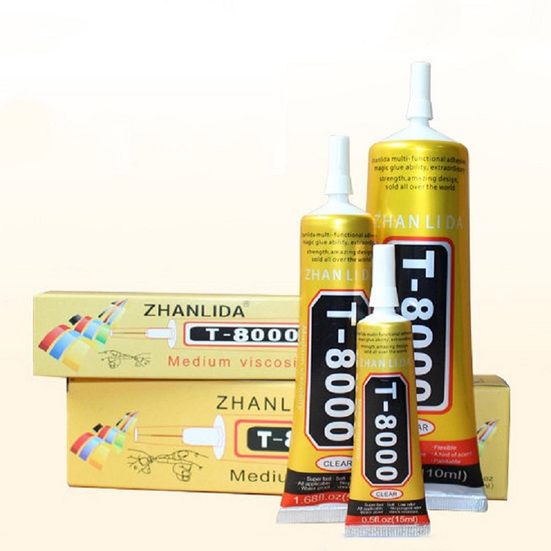 High Quality T8000 Glue Multipurpose Adhesive Epoxy Resin Diy Jewelry Fix Touch Screen Glue LCD Display