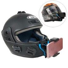 Мотоциклетный шлем подбородка кронштейн для Gopro SJCAM Xiaomi Yi Action камера и iPhone samsung huawei крепление, для сотового телефона интимные аксессуары