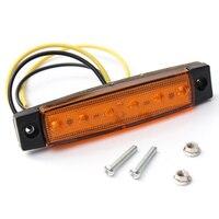 10 Teile/los NEW Side Marker Indikatoren Lichter Lampe Lkw-anhänger 12 V 6LED Gelb Motorrad Anhänger Licht Montage
