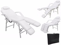 Giantex 75 Portable Tattoo Parlor Spa Salon Facial Bed Beauty Massage Table Chair White Home Furniture HB85033