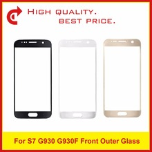 For Samsung Galaxy S7 G930 G930F G9300 And S7 Edge G935 G935F G9350 Touch Screen Panel Front Outer Glass Lens Black White Gold