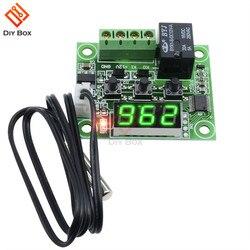 W1209 DC 12V Grün LED Digitale Thermostat Temperatur Control Thermometer Thermo Controller Schalter Modul Wasserdicht NTC Sensor