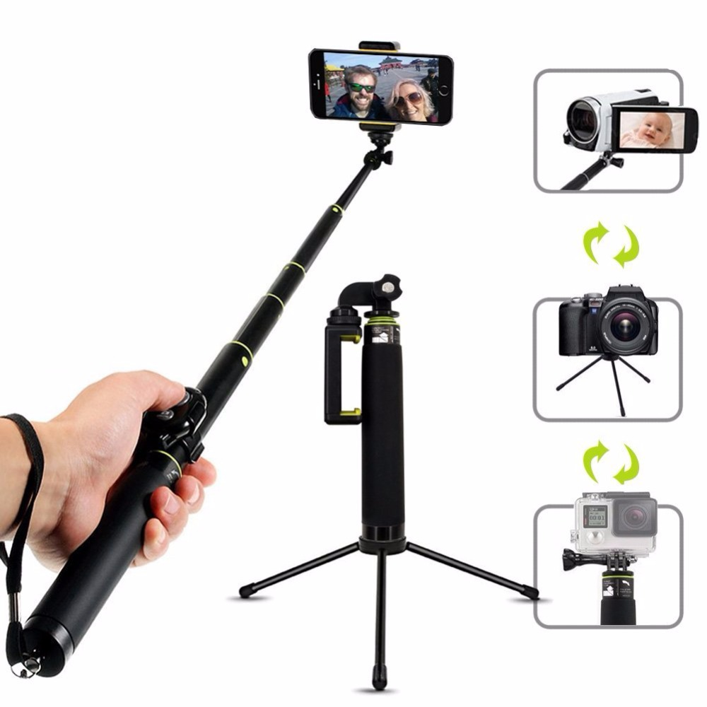 Mini Bluetooth Selfie Stick Foldable Tripod Remote Monopod For IOS iPhone X 8 7 Plus Gopro Hero 6/5 4k mijia Action Camera цена и фото