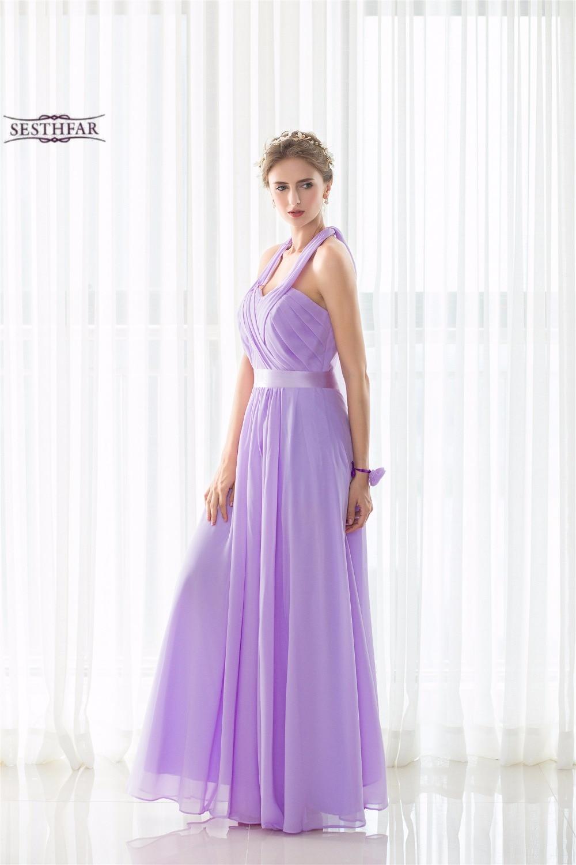 Dorable Gasa Vestido De Dama De Honor Larga Inspiración - Vestido de ...