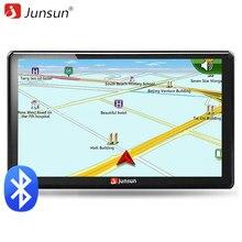 Junsun 7 zoll HD Auto GPS Navigation FM Bluetooth AVIN karte Kostenloses Upgrade Navitel Europa Sat nav Lkw gps navigators automobil