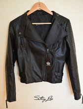 Comfy Slim Faux Leather Jacket For Women