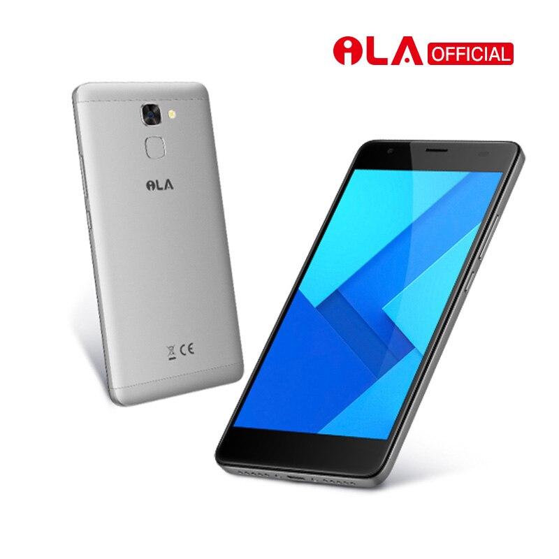 Nuevo Teléfono Móvil iLA S1 MT6737T Quad Core 5000 mAh Smartphone 5,5 pulgadas FHD 2 GB RAM 16 GB ROM Back Fingerprint teléfonos celulares Android