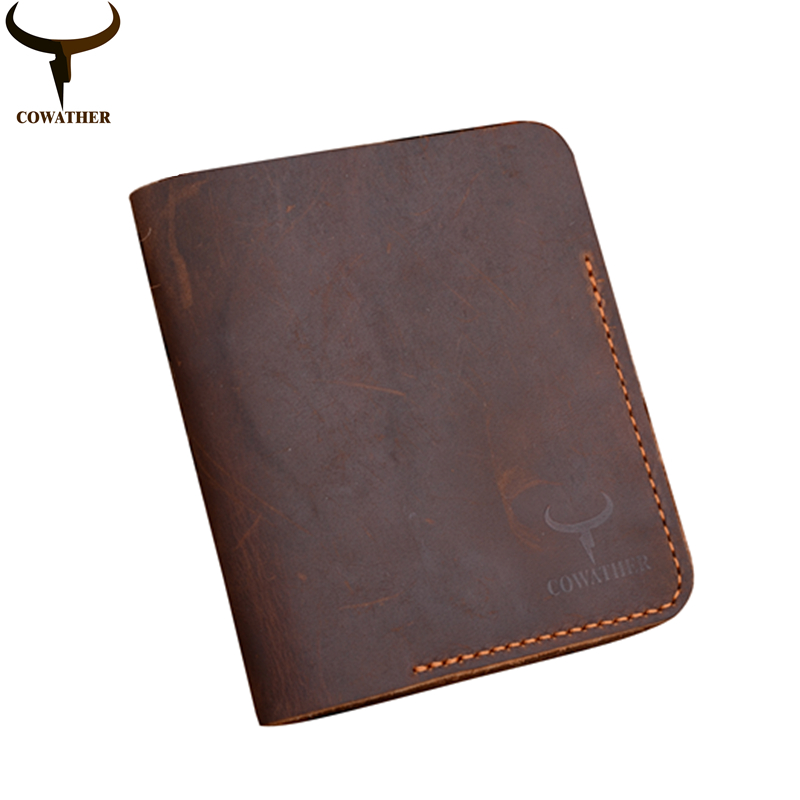 COWATHER top quality Crazy horse leather mens wallet for