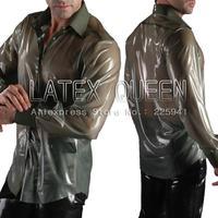 Men's latex shirt in trasparent color