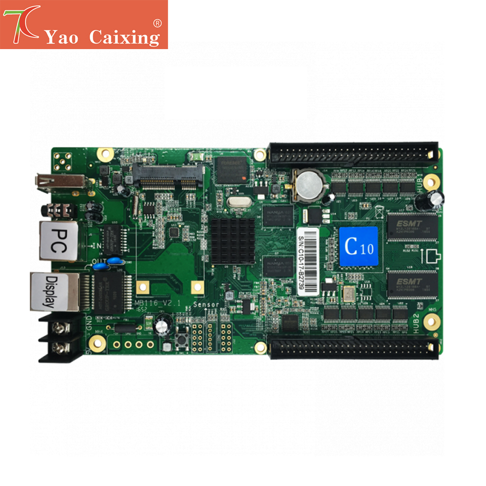 Free Shipping 1024x120pixels HD-C15/C15C Wifi Control Card P2 P2.5 P3 P4 P5 P6 P8 P10 Rgb Full Color Led Screen