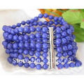 8Strands 8'inchs AA 6MM Blue Round Lapis Lazuli Bead Bracelet Fashion Style Women's Jewelry Hot Sale New Free Shipping FN2148