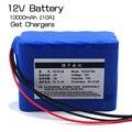 100% Nueva Protección de Gran capacidad 12 V 10Ah 18650 batería recargable de litio 12 v 10000 mAh capacidad