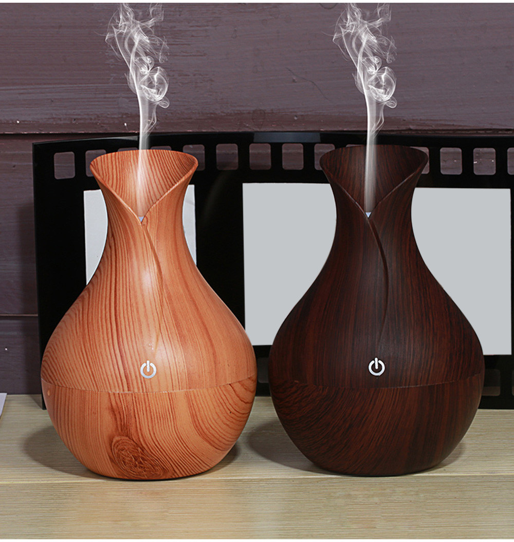 130ml Air Aroma Essential Oil Diffuser LED Ultrasonic Aroma Aromatherapy Humidifier