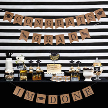 Graduation Party Decorations Im Done Banner Congrats Grad Photo Props Foil Balloons Candy Box Cake Topper Class of 2019
