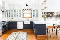 2018 Новый стильный шейкер стиль твердой древесины кухонные шкафы современная кухня мебель SKC80907