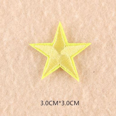 1 шт. смешанные нашивки со звездами для одежды, железная вышитая аппликация, милая нашивка эмблема на ткани, одежда, аксессуары для одежды DIY 61 - Цвет: 61Z6