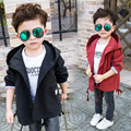 Boys girl new Autumn Spring Autumn Clothing Candy colors Cute Birds Hooded Windbreaker Waterproof Coat Children Outerwear Blazer
