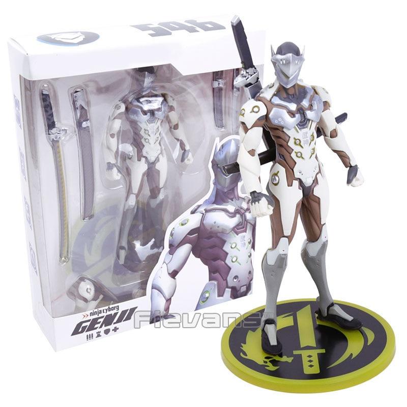 Anime Game Genji PVC Figure Collectible Model Toy 18cm Boxed hot game hero dva hana song d va with mecha pvc figure collectible model toy 24cm