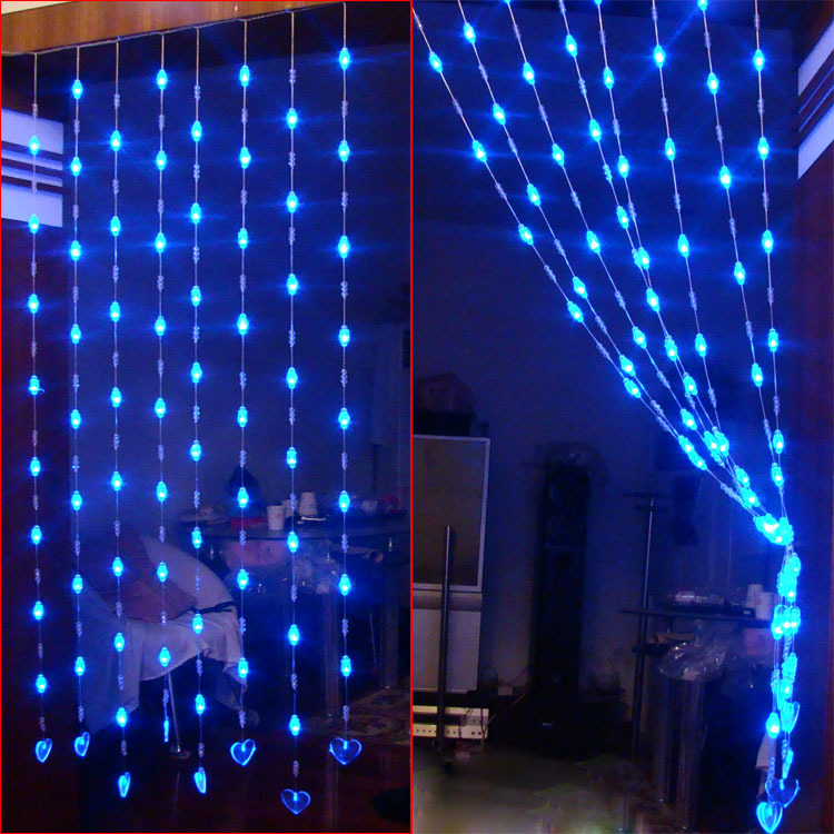 Entranceway Partition Decoration Crystal Bead Curtain Decoration 1 Meters Bead Curtain Heart Led
