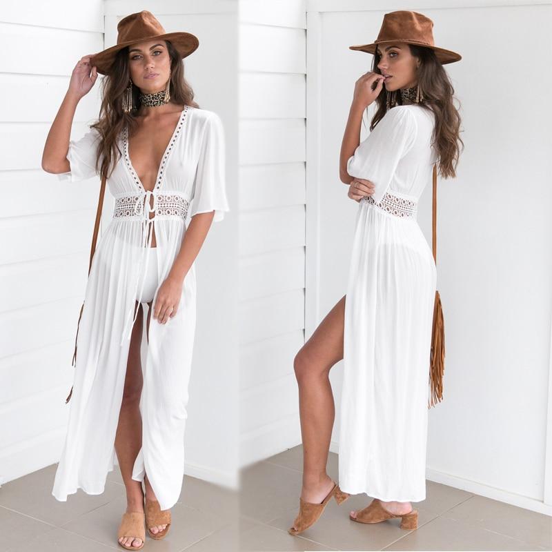 Ariel Sarah Bikini Covers-Up Beach Coat Swimsuit Cover-Ups Lace Beachwear Sun Protection Clothes Knitted Bikini Cover-up