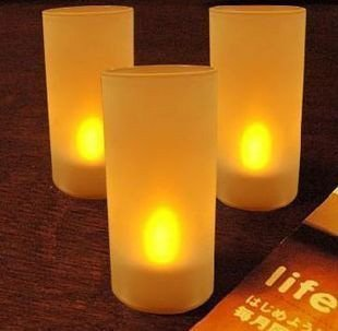 Wholesale Romantic Gift Sound Control LED Candle Light Night Light Bar Light 50pcs a lot Free Shipping