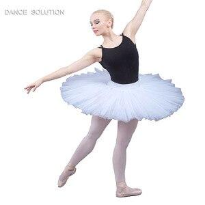 Image 1 - 전문 리허설 투투 어린이 및 성인 발레 댄스 하프 투투 스커트 7 층 뻣뻣한 얇은 명주 그물 Pancak 투투 BLL001