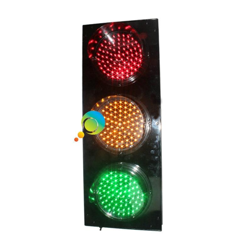 200mm New design aluminum housing portable LED flashing red green yellow traffic light