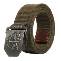 LITTOX New Arrival Men S Canvas Belt Dragon Army Green Military Belt Army Tactical Belts For