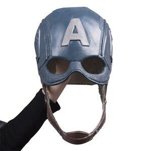 Image 5 - Cosplay Captain America Steven Mask Helmet Halloween Soft Cosplay Latex The Avengers Mask Mask Props