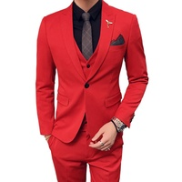 Mens Wedding Suits 2019 Red Suits Mens Oranje Pak Heren Royal Blue Mens Suits Party DJ Stage Costume Terno Slim Fit White Tuxedo